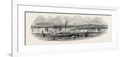 Liverpool, from Woodside, in 1846, UK--Framed Giclee Print
