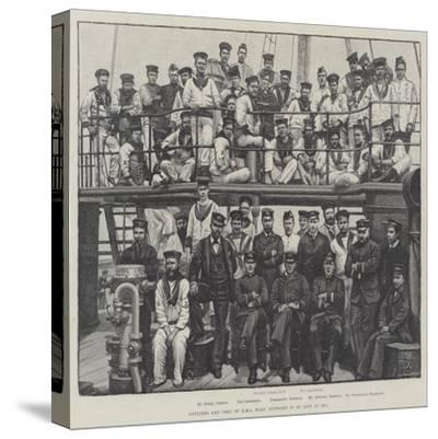 Officers and Crew of HMS Wasp, Supposed to Be Lost at Sea--Stretched Canvas Print