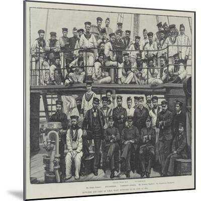 Officers and Crew of HMS Wasp, Supposed to Be Lost at Sea--Mounted Giclee Print