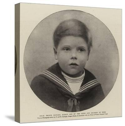 H R H Prince Edward, Eldest Son of the Duke and Duchess of York--Stretched Canvas Print