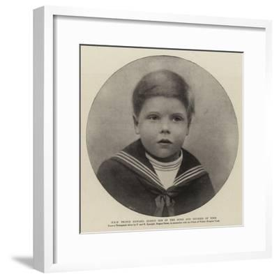 H R H Prince Edward, Eldest Son of the Duke and Duchess of York--Framed Giclee Print
