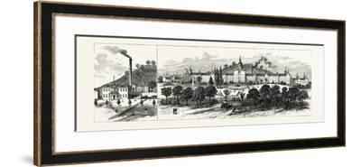 West Virginia: New State Hospital for the Insane at Weston--Framed Giclee Print
