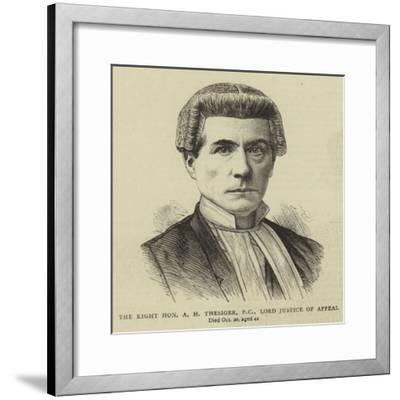 The Right Honourable a H Thesiger, Pc, Lord Justice of Appeal--Framed Giclee Print