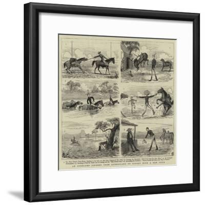 An Overland Journey from Queensland to Sydney with a New Chum--Framed Giclee Print