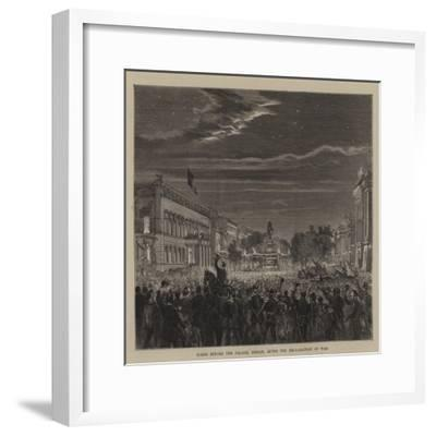 Scene before the Palace, Berlin, after the Declaration of War--Framed Giclee Print