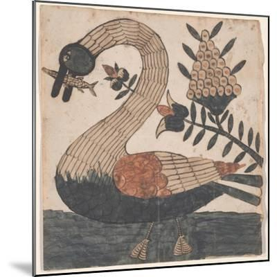 Bird with Fish, Fraktur Painting, C.1810--Mounted Giclee Print