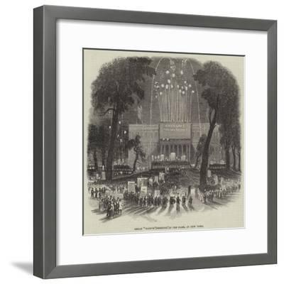 Great Native Meeting in the Park, at New York--Framed Giclee Print