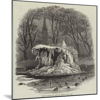 Frozen Fountain, Bowling-Green, New York--Mounted Giclee Print