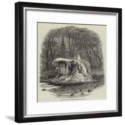Frozen Fountain, Bowling-Green, New York--Framed Giclee Print