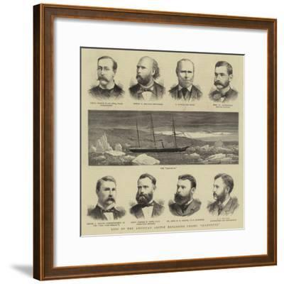 Loss of the American Arctic Exploring Vessel Jeannette--Framed Giclee Print