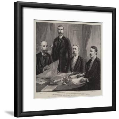 The Anglo-French Boundary Question in West Africa--Framed Giclee Print