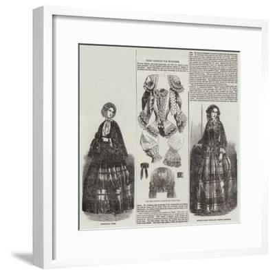 Paris Fashions for November--Framed Giclee Print