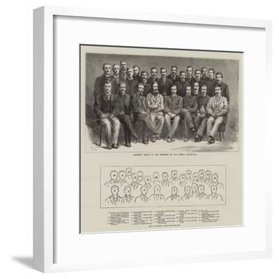 Portrait Group of the Members of the Greely Expedition--Framed Giclee Print