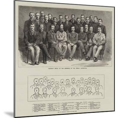 Portrait Group of the Members of the Greely Expedition--Mounted Giclee Print