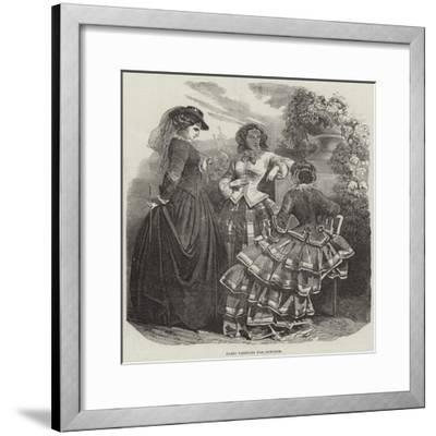 Paris Fashions for October--Framed Giclee Print