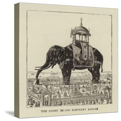 The Coney Island Elephant Bazaar--Stretched Canvas Print