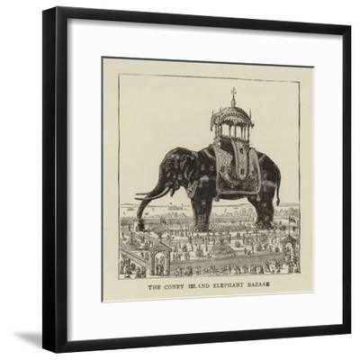 The Coney Island Elephant Bazaar--Framed Giclee Print