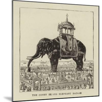 The Coney Island Elephant Bazaar--Mounted Giclee Print