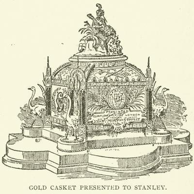 Gold Casket Presented to Stanley--Framed Giclee Print