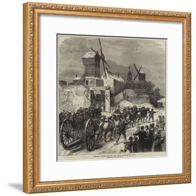 Bringing Up Ship Guns at the Buttes Montmartre, Paris--Framed Giclee Print