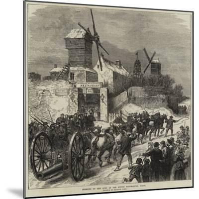 Bringing Up Ship Guns at the Buttes Montmartre, Paris--Mounted Giclee Print