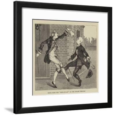 Scene from the Heir-At-Law at the Strand Theatre--Framed Giclee Print