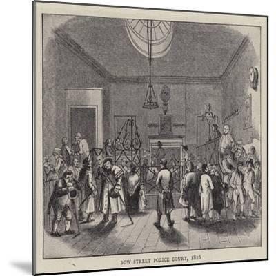 Bow Street Police Court, 1816--Mounted Giclee Print