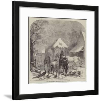 The Strawyard at Christmas--Framed Giclee Print