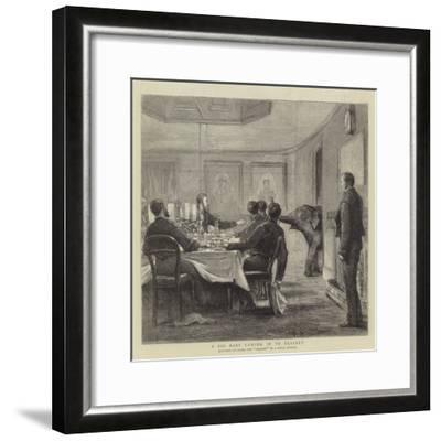 A Big Baby Coming in to Dessert--Framed Giclee Print