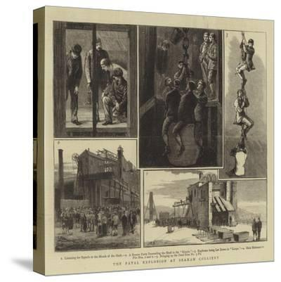 The Fatal Explosion at Seaham Colliery--Stretched Canvas Print