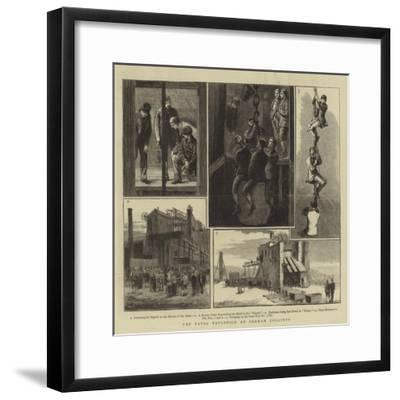 The Fatal Explosion at Seaham Colliery--Framed Giclee Print