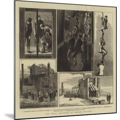 The Fatal Explosion at Seaham Colliery--Mounted Giclee Print