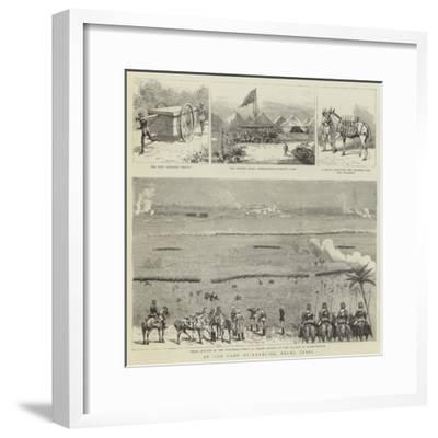At the Camp of Exercise, Delhi, India--Framed Giclee Print