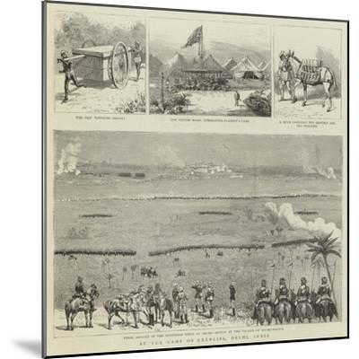 At the Camp of Exercise, Delhi, India--Mounted Giclee Print
