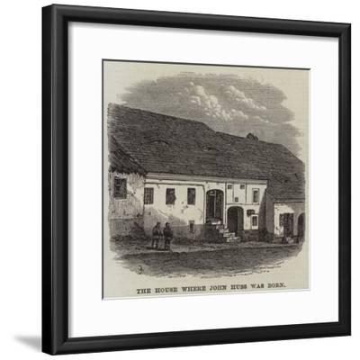 The House Where John Huss Was Born--Framed Giclee Print
