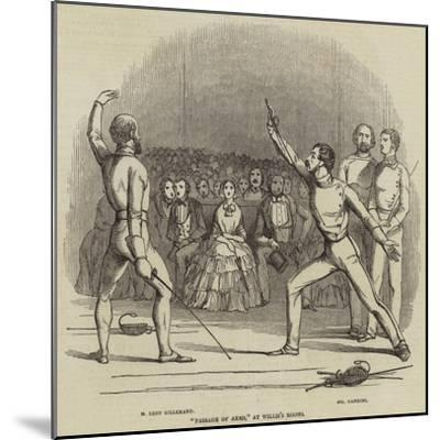 Passage of Arms, at Willis's Rooms--Mounted Giclee Print