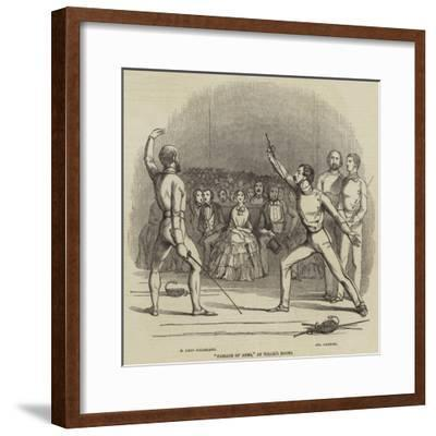 Passage of Arms, at Willis's Rooms--Framed Giclee Print