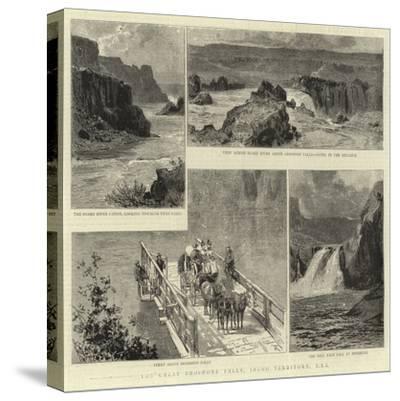 The Great Shoshone Falls, Idaho Territory, Usa--Stretched Canvas Print