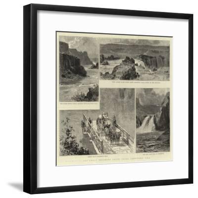 The Great Shoshone Falls, Idaho Territory, Usa--Framed Giclee Print