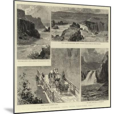 The Great Shoshone Falls, Idaho Territory, Usa--Mounted Giclee Print