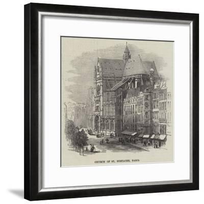 Church of St Eustache, Paris--Framed Giclee Print
