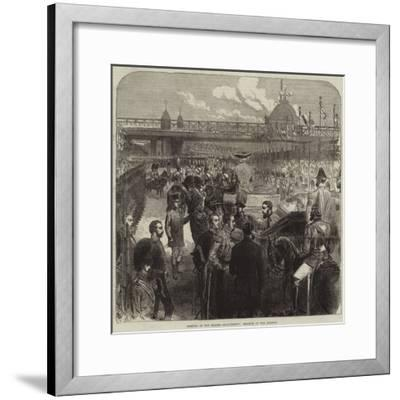 Opening of the Thames Embankment, Reading of the Address--Framed Giclee Print