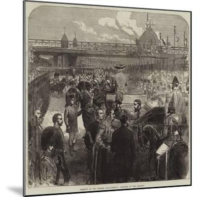 Opening of the Thames Embankment, Reading of the Address--Mounted Giclee Print