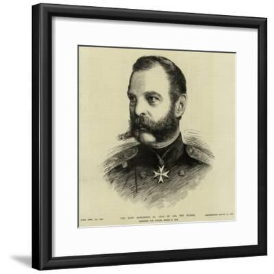 The Late Alexander I, Czar of All the Russias--Framed Giclee Print