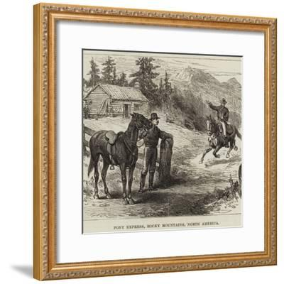 Pony Express, Rocky Mountains, North America--Framed Giclee Print