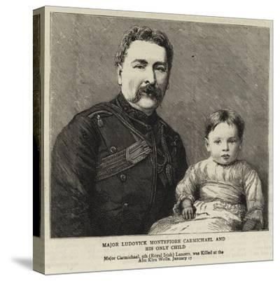 Major Ludovick Montefiore Carmichael and His Only Child--Stretched Canvas Print