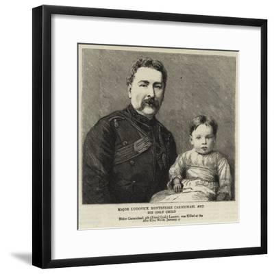 Major Ludovick Montefiore Carmichael and His Only Child--Framed Giclee Print