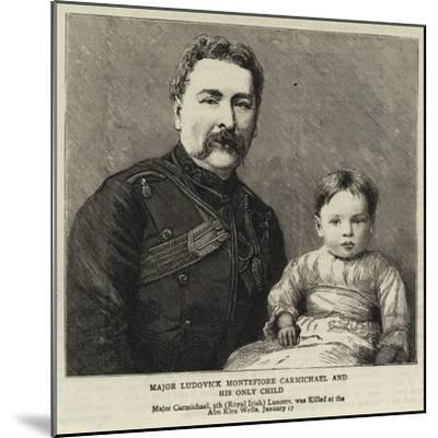 Major Ludovick Montefiore Carmichael and His Only Child--Mounted Giclee Print