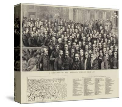 A Momento of Her Majesty's Jubilee Year, 1887--Stretched Canvas Print