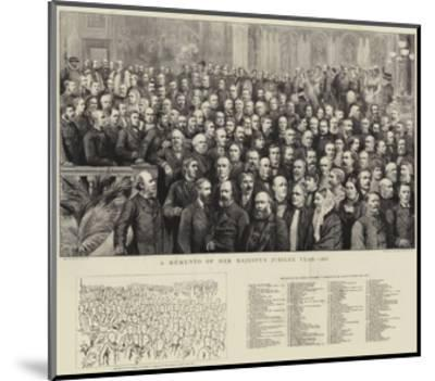 A Momento of Her Majesty's Jubilee Year, 1887--Mounted Giclee Print